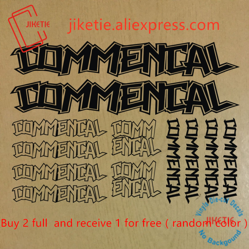 COMMENCAL Mountain Bicycle Frame Decal Stickers Graphic Adhesive Set Vinyl Black