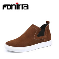 FONIRRA 2017 High Quality Genuine Leather Men Shoes Comfortable Handsome Loafers Fashion Shoes Breathable Men S