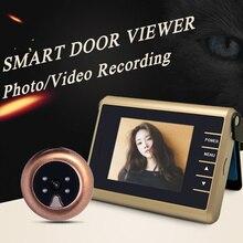 Новая Раскладушка 3.2 «HD Smart Фото/Видео Записи Беспроводной Дверной Глазок Камеры ИК Ночного Видения Цифровой Глазок Двери камера