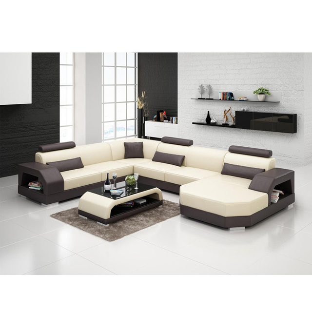 Solid Wood Frame Durable Leather Sofa With Many Diffe Colors Furnitures House Living Room Sofas