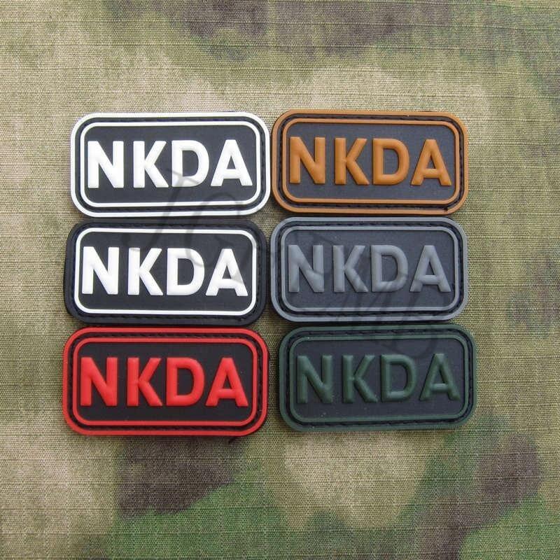 DEVGRU-NSWDG-NKDA-No-Known-Drug-Allergies-Tactics-Morale-3D-PVC-patch-Black-Red-Green-Grey