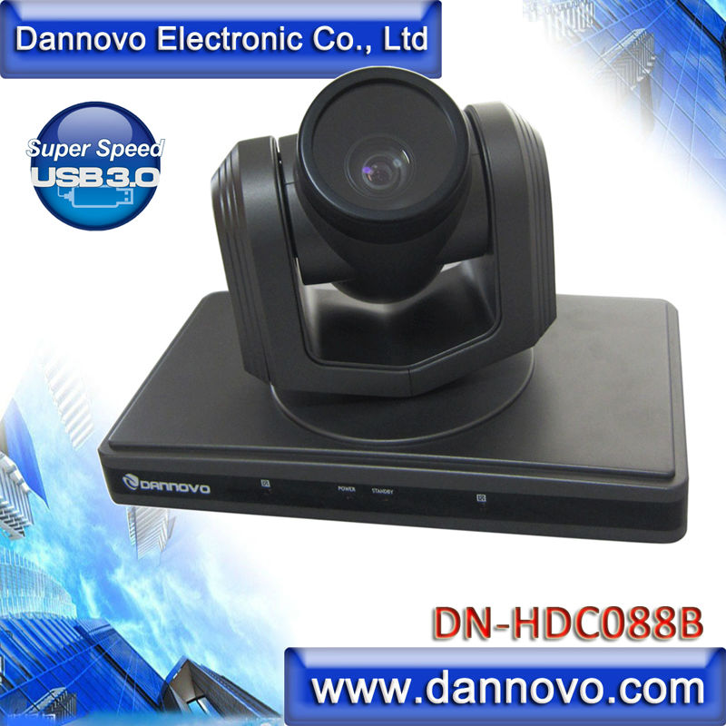 DANNOVO USB3.0 HD PTZ Video Conferencing Camera,10x Optical Zoom,Plug and Play,Support Win OS,MAC OS,Skype,Lync