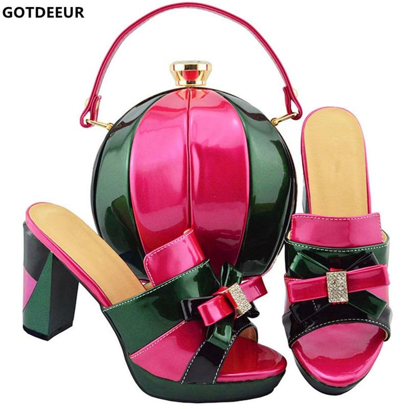 2aa5f4e2 Green Zapato La blanco Zapatos peach Bolsas Y púrpura Del Boda Italianos  Sistemas Oro Conjunto Juego ...