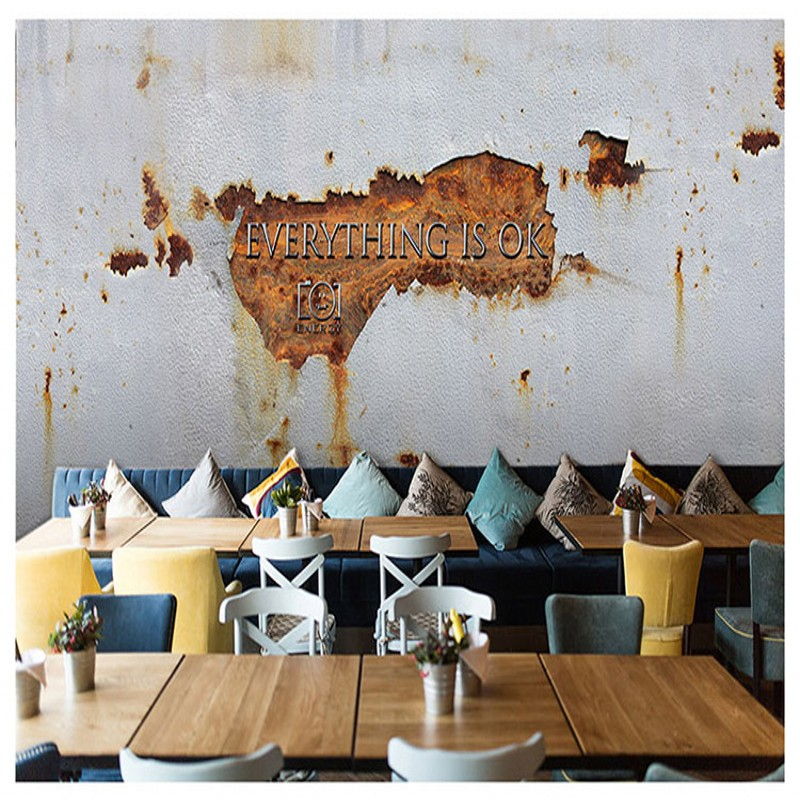 photo wallpaper Custom industrial style wallpaper retro iron cement wall bar restaurant theme hotel barber shop mural custom photo wallpaper 3d retro wheel imitation brick wall wallpaper mural bar restaurant lounge hotel wallpaper