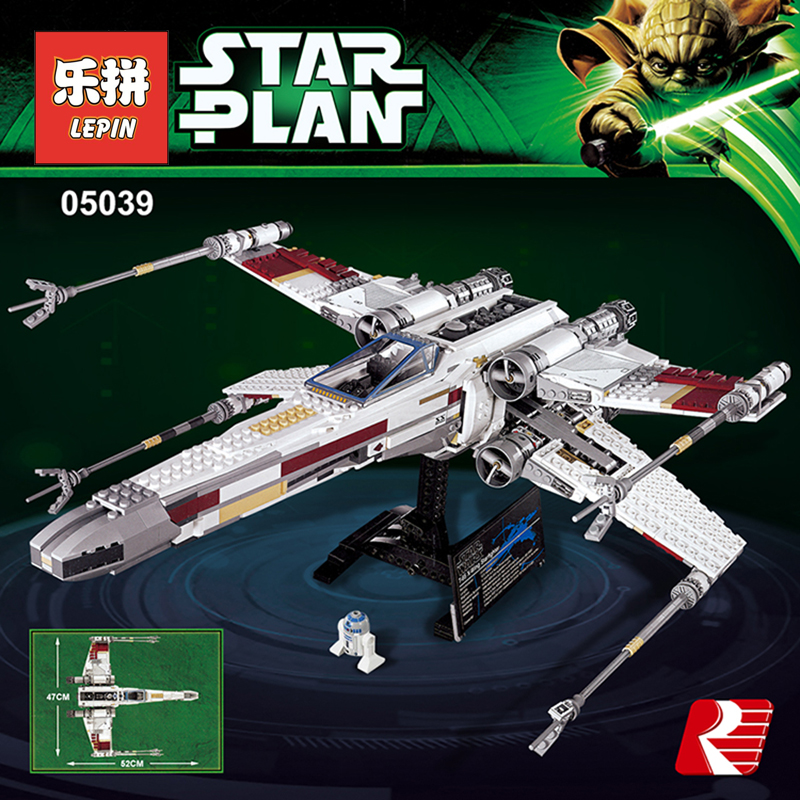 Lepin Starwars 05039 the X-wing Rebel Red Five Starfighter Set Compatible Legoinglys Star Plan Wars Building Blocks 10240 Toys 50pcs set starwars sheev palpatine darth sidious figure star wars building blocks toys compatible with legoinglys star wars