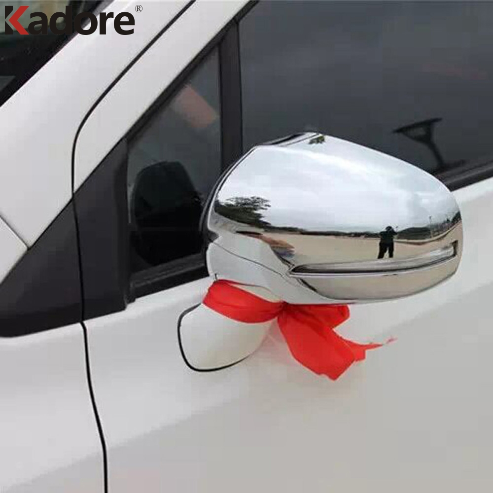 For Suzuki SX4 S-Cross Crossover 2nd Generation 2014-2017 ABS Chrome RearView Mirror Cover Trim Side Door Mirror Protective 2PCS