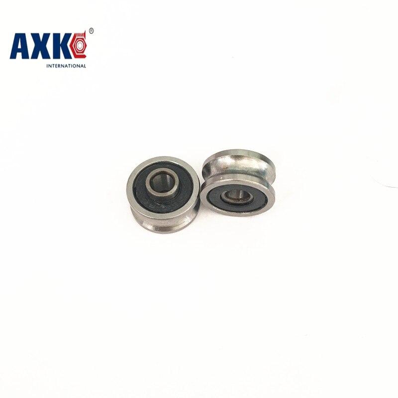купить high quality U22 ABEC-5 8mm V / U groove pulley bearings 8*22.5*14.5*13.5 mm Ugroove roller wheel ball bearing U-22 TU22 по цене 457.72 рублей