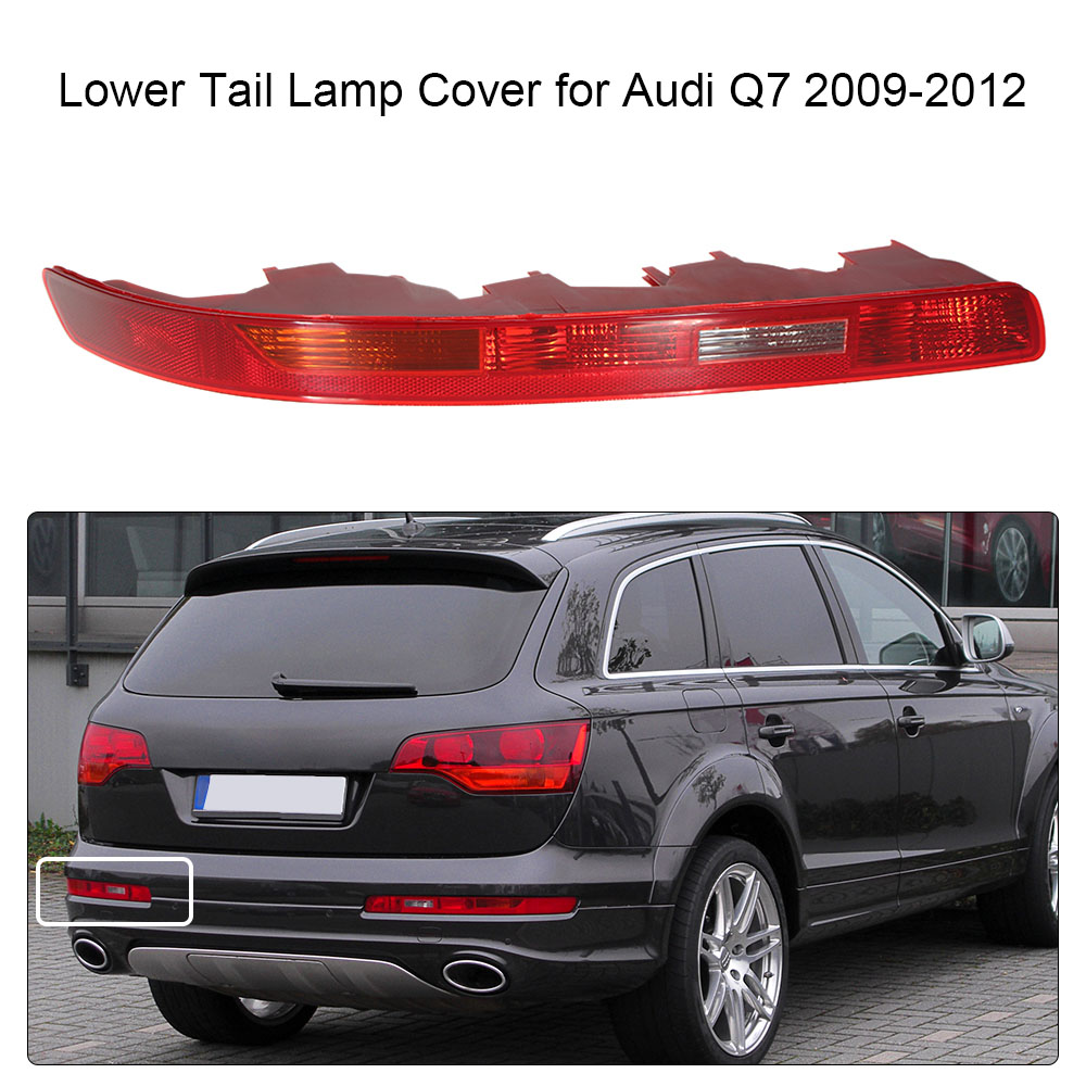 Car-styling Tail Light  for Trailers Lamp Light for Audi Q7 2009-2012 without Bulbs Lower Tail Lamp Cover Led Light Bar grattol топ rubber top gel 9 мл