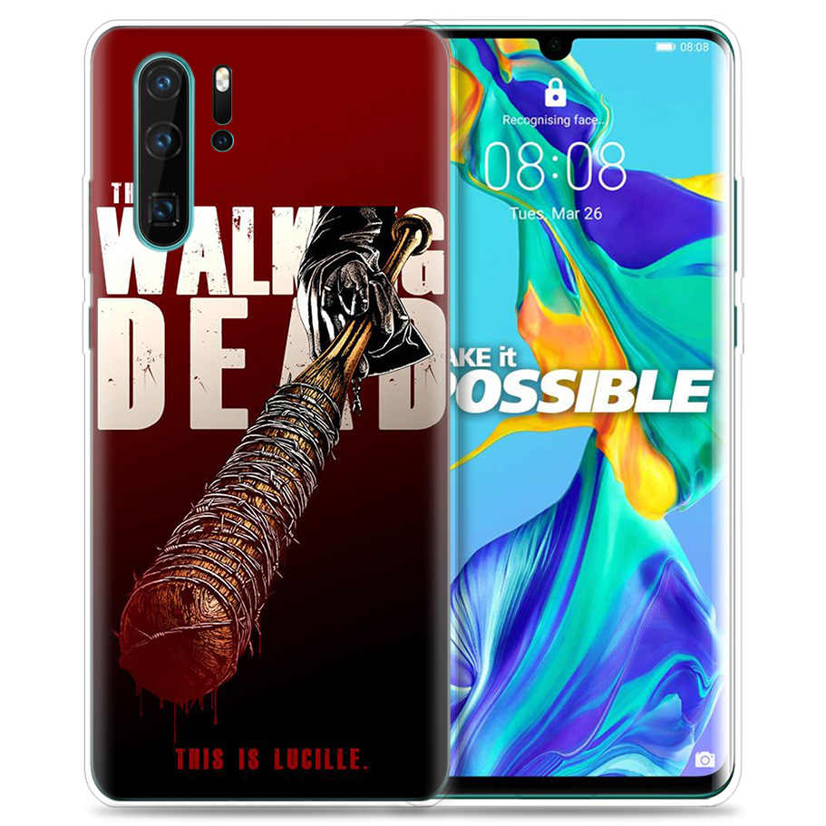 Case for Huawei P30 P20 P10 P9 Mate 10 20 Lite Pro Mobile Cell Phone Bag P Smart Z 2019 Plus The Walking Dead P8 P30Pro P20lite