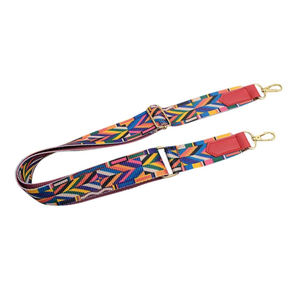 Femmes dame coloré coton Boho chaîne Rivet sangle ceinture pour sac à bandoulière sac à main en gros A9