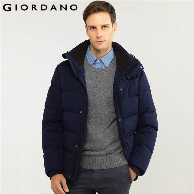c5d1b6181 US $300.0 |Giordano Men Downs Jacket Hooded Puffer Coats Outerwear Warm  Clothing Hombre Parkas Long Sleeve Winter Brand Jaquetas-in Down Jackets  from ...