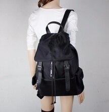 Ретро женщин нейлон водонепроницаемый рюкзак путешествия сумки на ремне рюкзак bookbag