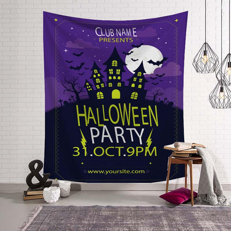 Large 3D Print Halloween Tapestry Wall Hanging Skull Sandy Beach Towel Wall Throw Blanket for Party Festival Camping Tent Mattre in Tapestry from Home Garden