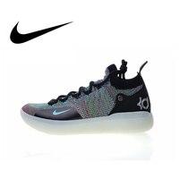 Оригинальная продукция Nike Zoom KD11 EP Мужская баскетбольная обувь на шнуровке прочные удобные уличные кроссовки классическая спортивная Дизай