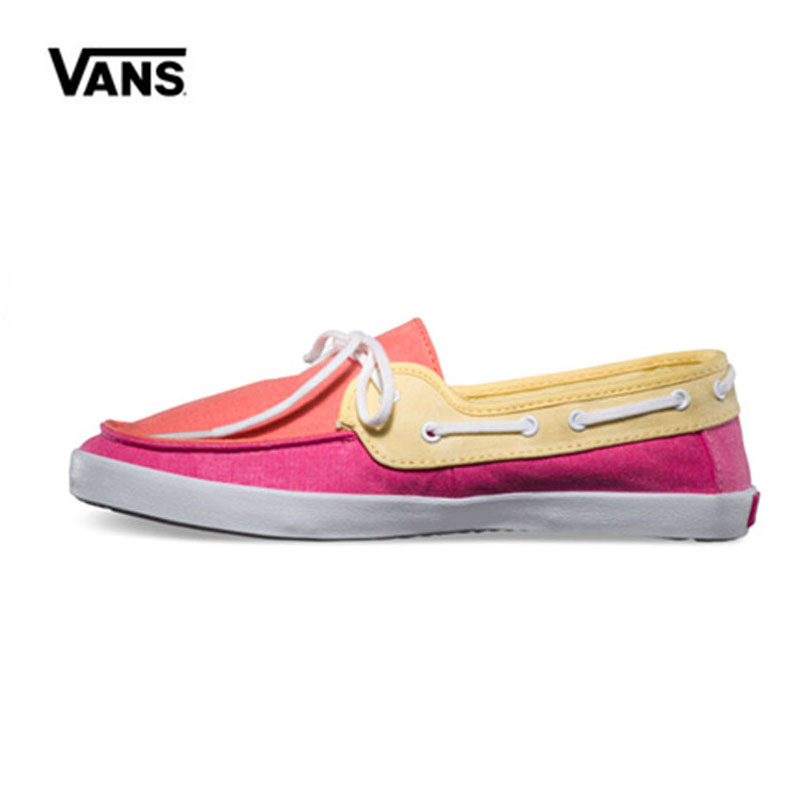 cfa749f1972950 Vans Shoes Red Yellow Sneakers Low top Trainers Women Sports Skateboarding  Shoes Breathable Classic Women Canvas Vans Shoes-in Skateboarding from  Sports ...