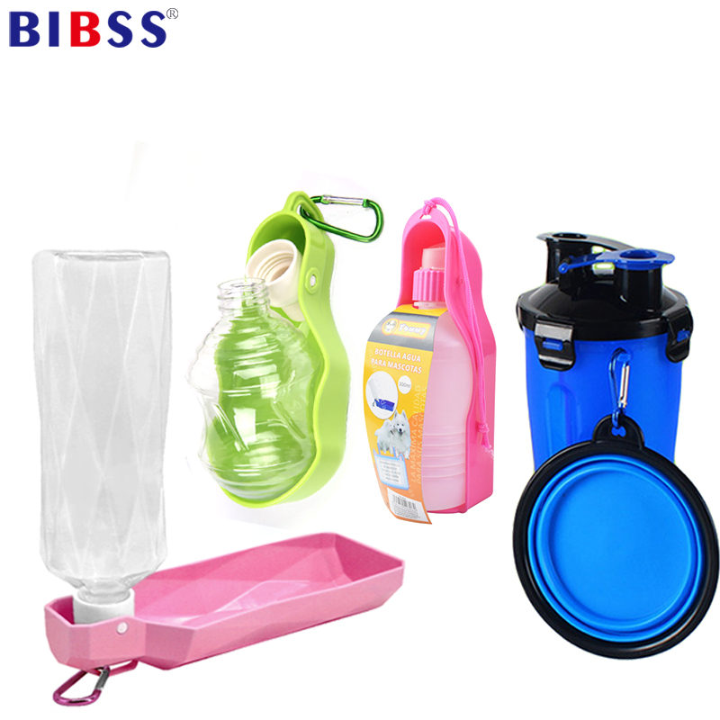 250ml Foldable Pet Dog Water Bottle Outdoor Travel