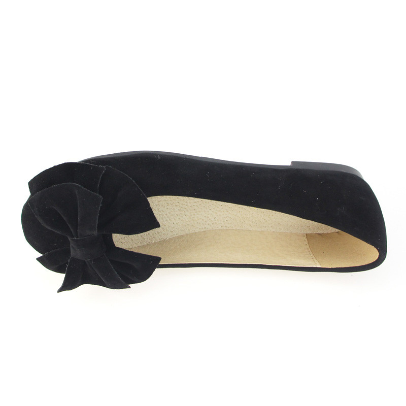 Image 3 - TIMETANG spring summer bow women single shoes flat heel soft bottom ballet work flats shoes woman-in Women's Flats from Shoes
