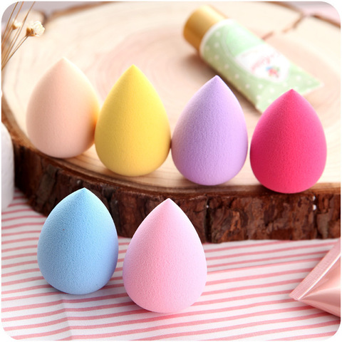 1PCS Soft Makeup Sponge powder puff Powder Professional Smooth Beauty Puff for Women Beauty Cosmetic Random Color Lahore
