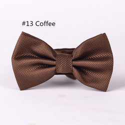RBOCOTT 23 Colors Solid Fashion Bow Tie Men's Plaid Bowties Red Blue Green Silvery Gray For Men Women Wedding Accessories 4