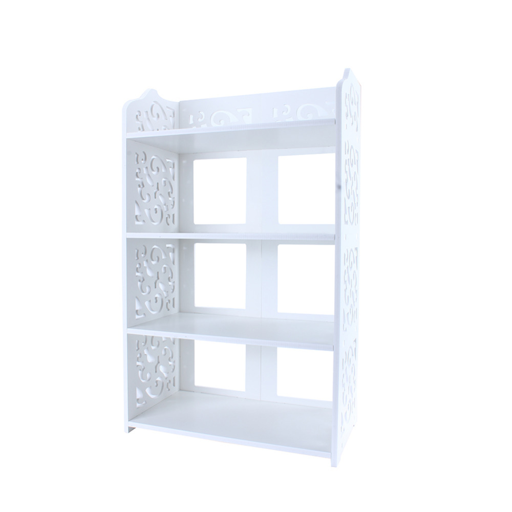 Standing Shoe Rack Simple Multi layers White Hollow Out Shoes Rack Stand Storage Organiser Shelf DIY Shoe Cabinet Home Furniture-in Shoe Racks & Organizers from Home & Garden