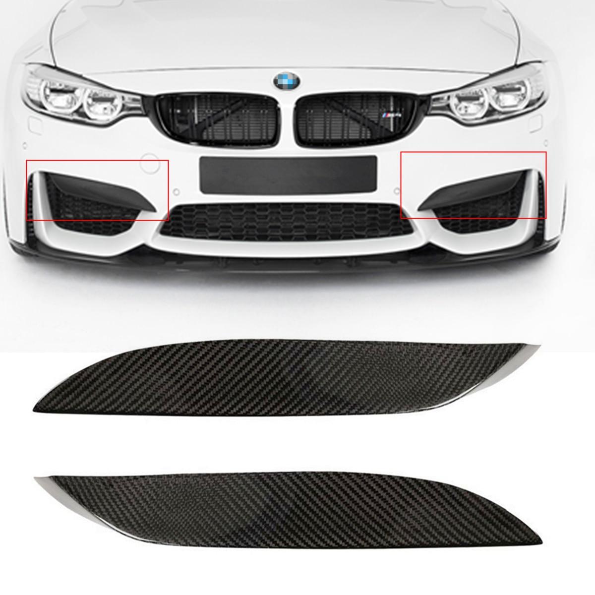 Universel De Voiture Pare-chocs Avant Lip Fit Pour BMW F80 M3 CF Réel En Fiber De Carbone Face Supérieure Splitter Canards Lèvre Avant pare-chocs Protecteur