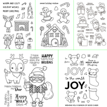 Christmas Day Graphic View Transparent Silicone Stamp DIY Scrapbook / Album Decoration Card Making Transparent Stamp Supplies 1pc tpr silicon transparent clear stamp feather flowers butterfly stamp diy scrapbook card making craft album decorating stamp