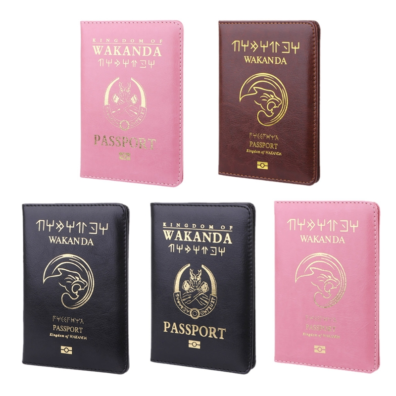 Travel Accessories Passport Wakanda Holder Cover Storage Function PU Leather Casual Busines Case ID Credit Card Organizer Wallet