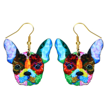Fashion Acrylic Dangle Long Earrings Women Girls Kids Gift Jewelry Pendant Charm Accessories Drop Bulldog Dog Earrings fashion acrylic dangle long earrings women girls kids gift jewelry pendant charm accessories drop fox earrings