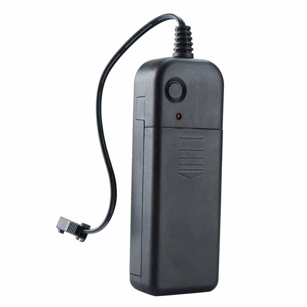 Портативный 1/2/3/4/5 м неоновый светящийся чеканка светодиодный EL провода светильник драйвер конвертер постоянного тока 3V Применение 2xAA Батарея