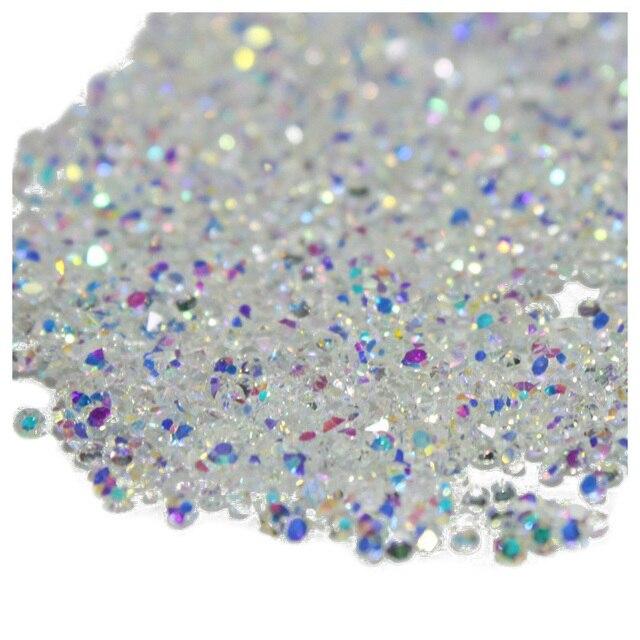 HTHL-1440 piezas Micro diamante DIY uñas diamantes de imitación cristal plano trasero no Hotfix diamantes de imitación necesita pegamento decoración de uñas cosme