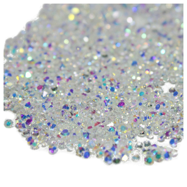 HTHL- 1440Pcs Micro Diamond DIY Nails Rhinestones Crystal Flat Back Non Hotfix Rhinestones Need Glue Nail Art Decoration Cosme