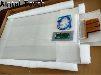 32 inches multi Interactive Touch Foil, transparent 10 points Projective Capacitive Touch Foil film promotion best price 84 real 6 points lcd interactive touch foil film through glass shop window for touch kiosk table etc