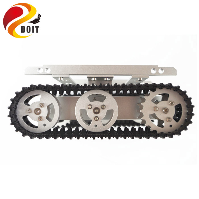 DOIT T100 Metal Robot Tank Car Chassis with Aluminum Alloy Chassis ...