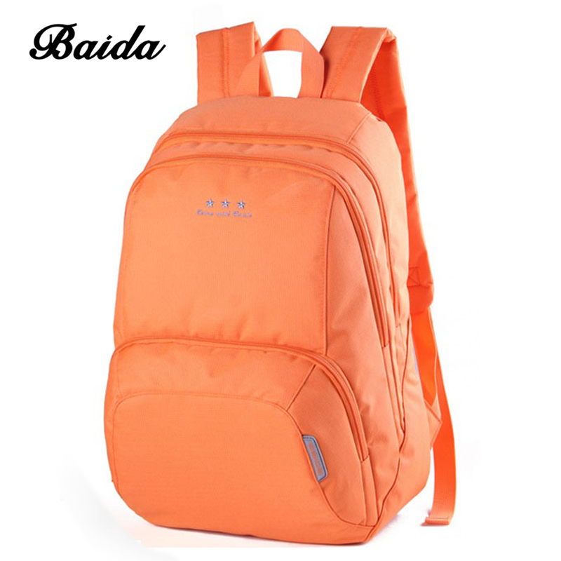 Fashion Popular Backpack Mochila Solid Brief Travel Backpack Rucksack for Teenagers Girl Boy BAIDA High Quality School Bag girsl kid backpack ladies boy shoulder school student bag teenagers fashion shoulder travel college rucksack mochila escolar new