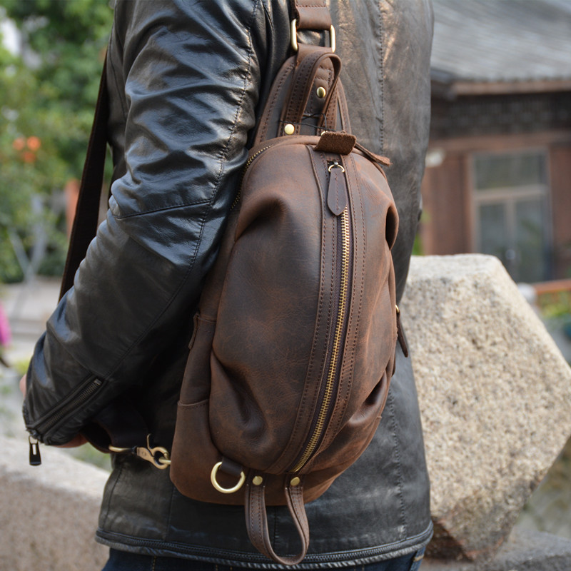 Schulter Umhängetaschen Crazy Männer Brust Vintage Brown Messenger Echtes Männlichen Tasche Boleke Taschen Dark Kleine Horse Marke Lässig Leder x5qvCYXw