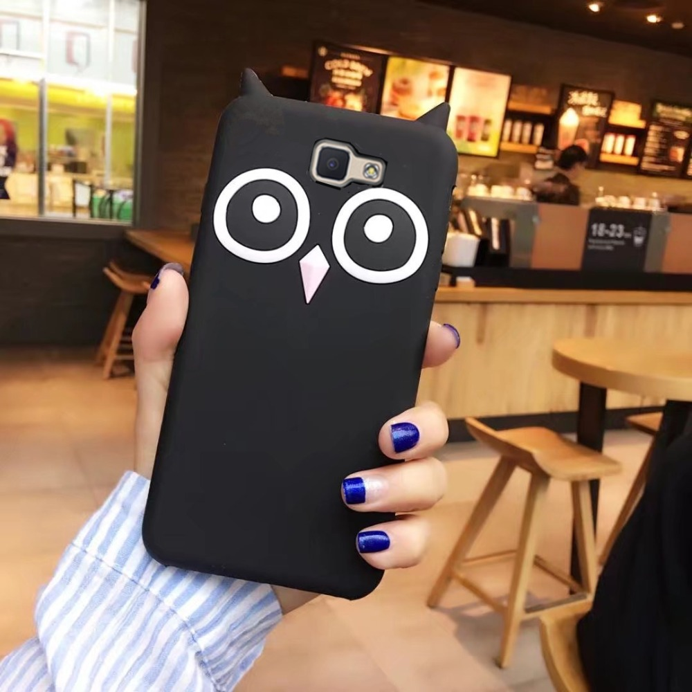 Nouveau Dessin Animé 3D Hibou Silicone téléphone Cas Pour Samsung Galaxy s6 s7 bord s8 j7 j5 j3 j2 j1 2016 c5 c7 c9 pro j7 J5 J2 premier A8 Couverture
