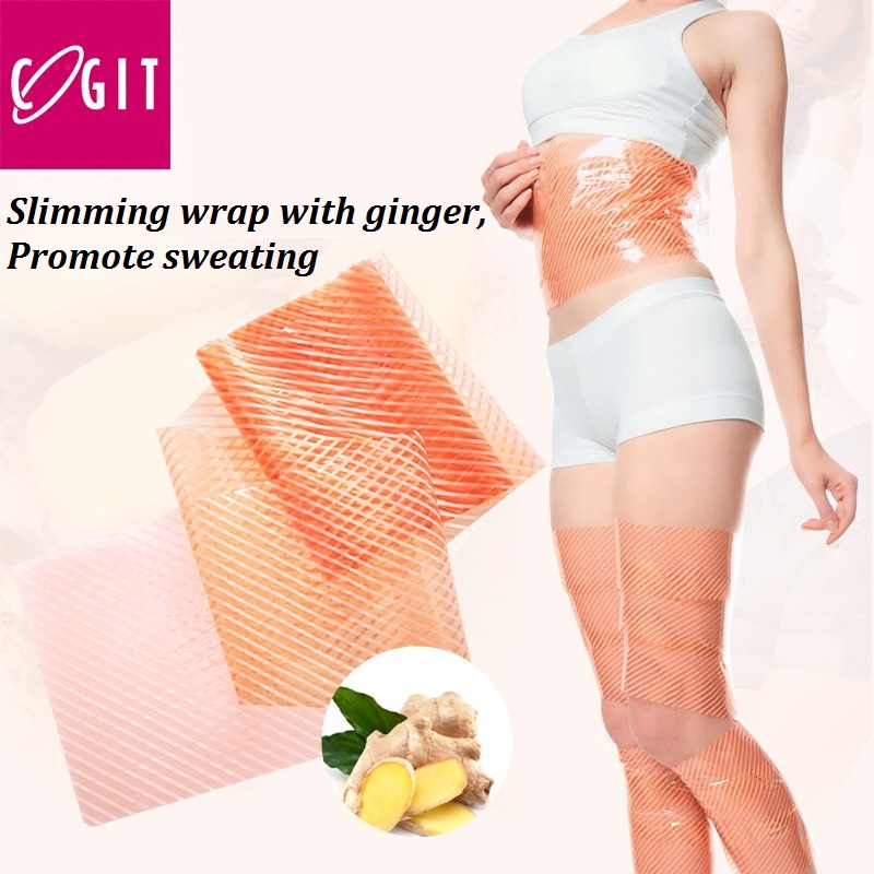 Japan Cogit Slimming Wrap for Arm Leg Ginger oil Thigh brace Tape Fat Burning sweating Fast Weight Loss Sweat Body shape tape