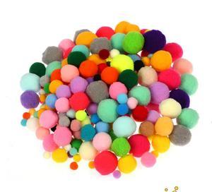 Плюшевая палочка/помпоны радужные цвета с оборками Обучающие DIY игрушки ручная работа Искусство ремесло творчество диволоппинг игрушки GYH