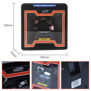 Image 5 - 2D Image Flatbed Desktop Omnidirectional Bar Code Reader High Speed Automatic 1D Laser Barcode Scanner