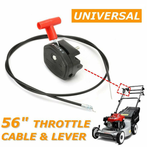Image 2 - Universal 56 Inch Lawn Mower Throttle Cable Switch Choke Lever Control Handle Kit for Petrol Lawnmower Garden Tools Spare Parts