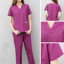 Brush Hand-Coat Korean-Uniform Dentist Female Short-Sleeve Split-Suit Oral-Cotton Nurse