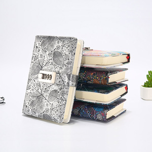 Image 5 - New A5 Leather Diary Notebook with Lock code 140 sheets paper notepad note book  Office school supplies Gift