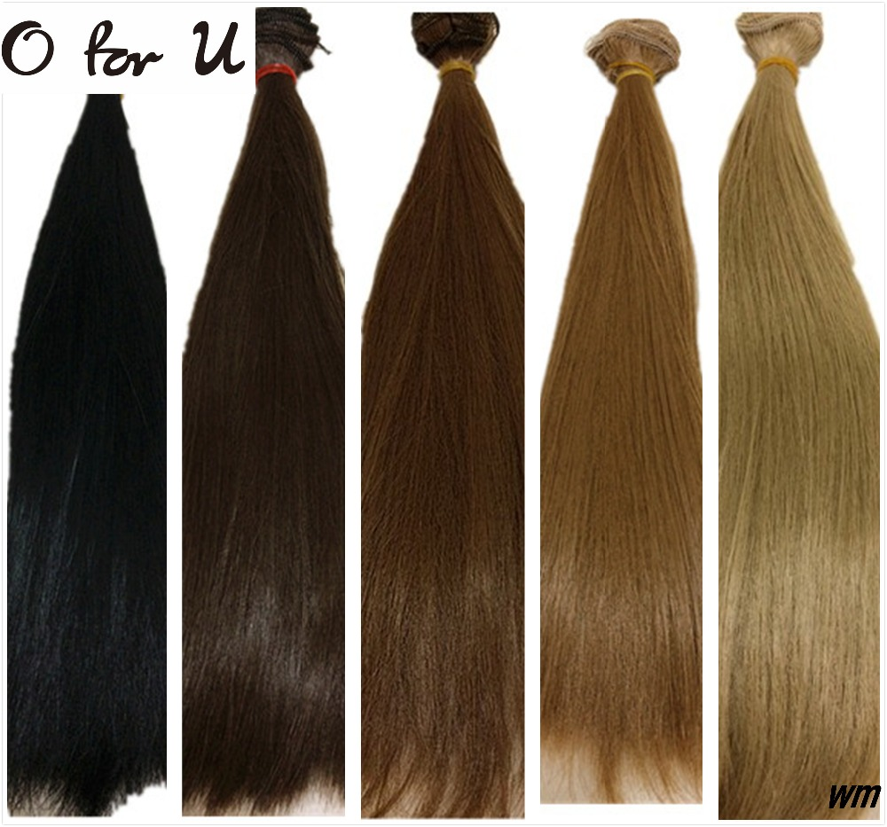 O for U 30PCS/LOT Wholesale 25*100CM DIY Handmade Straight Doll Wig Hair Black Brown Blond 1/3 1/4 BJD Dolls Wigs Free Shipping hsp 62021 center dogbone f 1 8 scale models spare parts for rc model cars himoto 94762