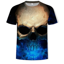 2019 Summer Hot sale New Mens  Skull Printing T-shirt Steampunk 3D S-5XL t-shirt Cool