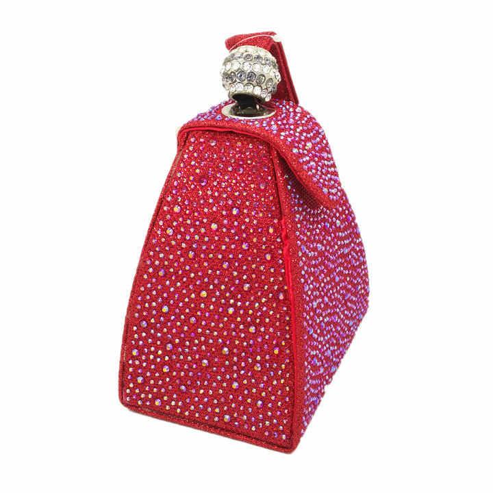 Diamond Bridal Wedding Purse Mini Gray Pyramid Party Handbags Women Bag Wristlets Clutches Crystal Evening Clutch Bags MIL0464