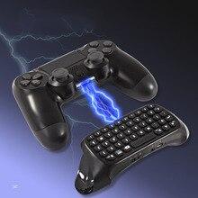 Mini bezprzewodowa klawiatura, z touchpadem myszy, dla PS4, podświetlany uchwyt, Bluetooth akumulator klawiatury, Chatpad Adapter