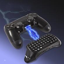 Mini clavier sans fil, avec souris Touchpad, pour PS4, poignée rétroéclairée, clavier Rechargeable Bluetooth, adaptateur Chatpad