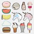 Mulheres bonitos Dos Desenhos Animados Unicórnio sorvete Queque Mini Sacos Novo Visual Fruit Engraçado Embreagem de Laser Forma de Diamante Brilhante Bolsa Presente de Ano Novo
