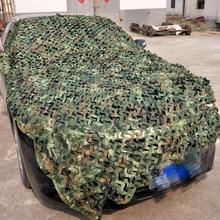 3X5 м 1,5X2 M Военная камуфляжная сетка заросли чехол камуфляжной расцветки из неттинг Кемпинг Тент для защиты от солнца тенты Охота Стрельба укрытие