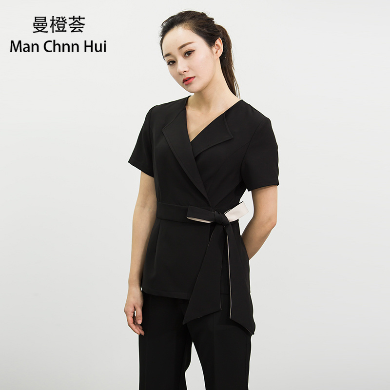 Medical Spa Uniforms Beauty Salon Overalls Female Beautician Massage Technician Health Club Temperament Professional Suit